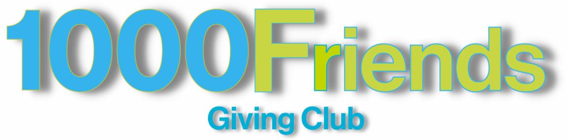 1000 Friends webpage banner